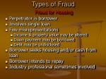 types of fraud fraud for housing