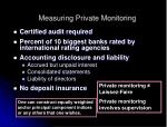 measuring private monitoring