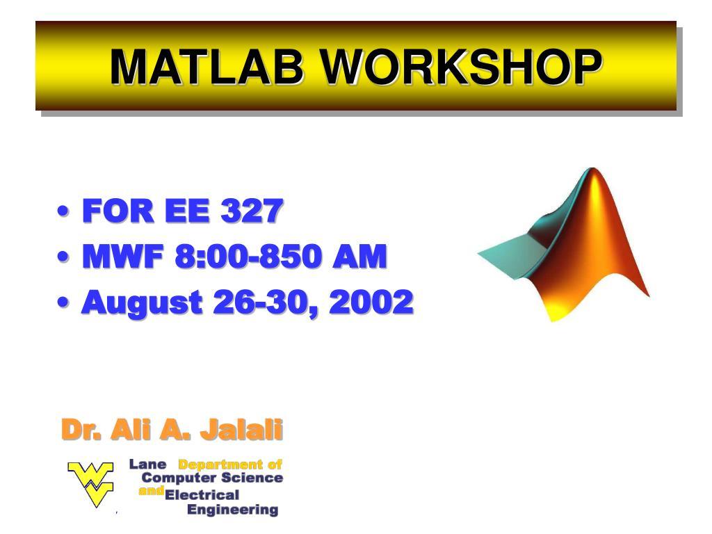 matlab workshop l.