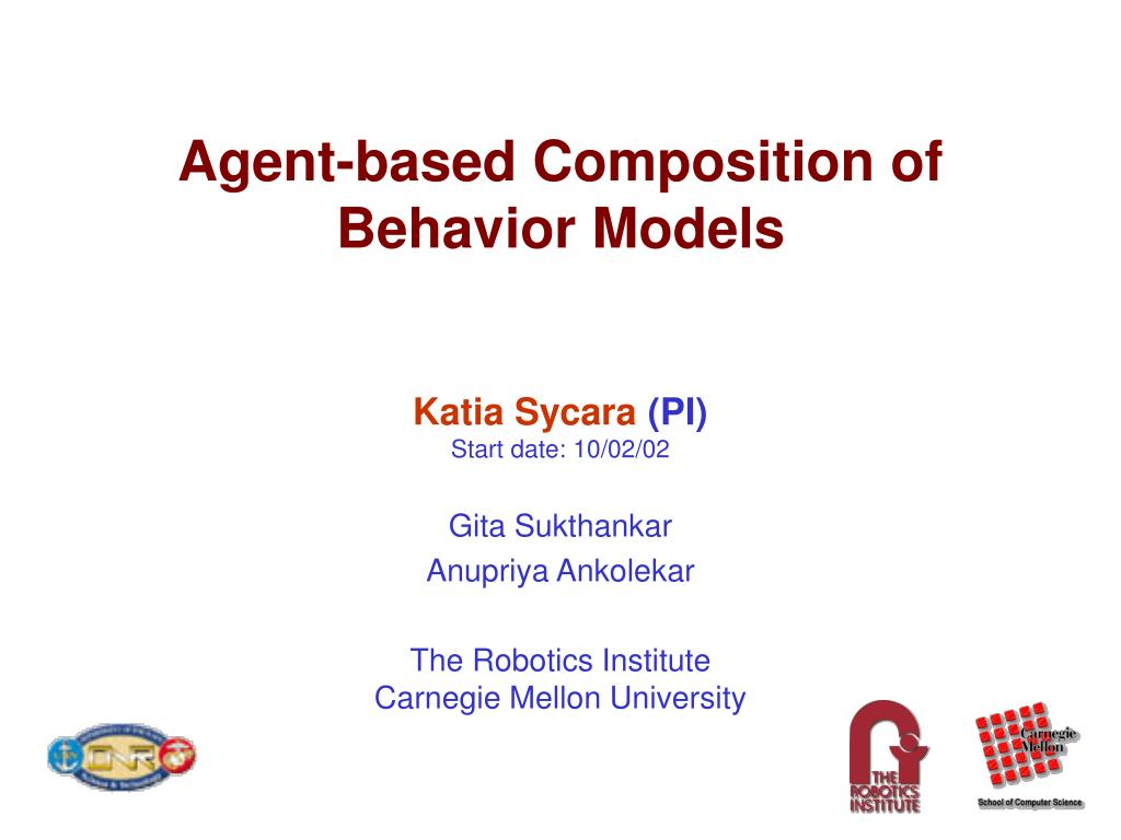 agent based composition of behavior models l.