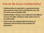how do we ensure confidentiality