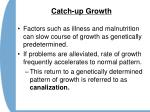 catch up growth