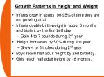 growth patterns in height and weight