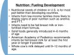 nutrition fueling development