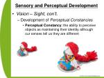 sensory and perceptual development49