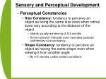 sensory and perceptual development50