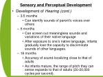 sensory and perceptual development52