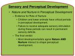 sensory and perceptual development57