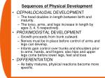 sequences of physical development