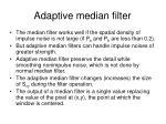 adaptive median filter