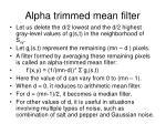 alpha trimmed mean filter