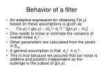 behavior of a filter52