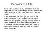 behavior of a filter53