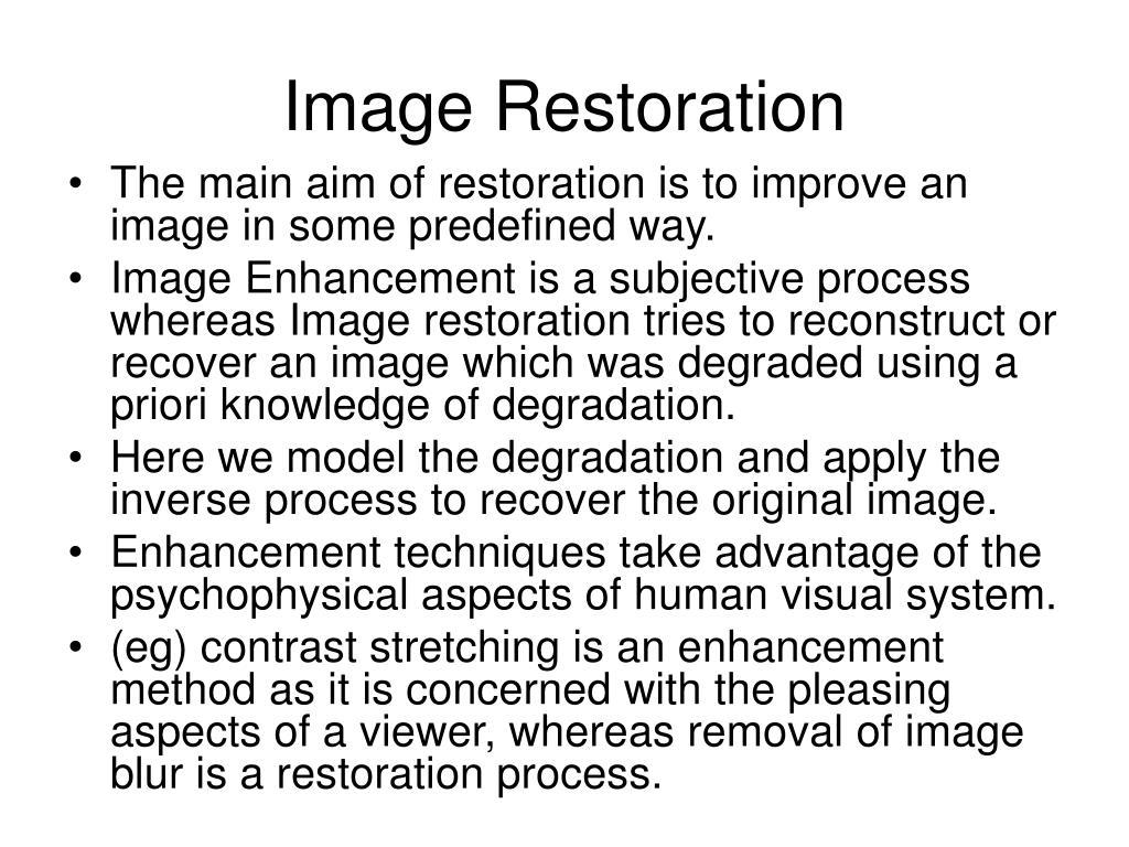 image restoration l.