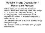 model of image degradation restoration process