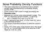 noise probability density functions