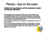 plenary eye on the exam31