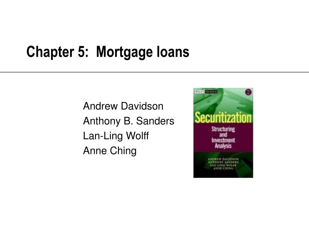 chapter 5 mortgage loans l.