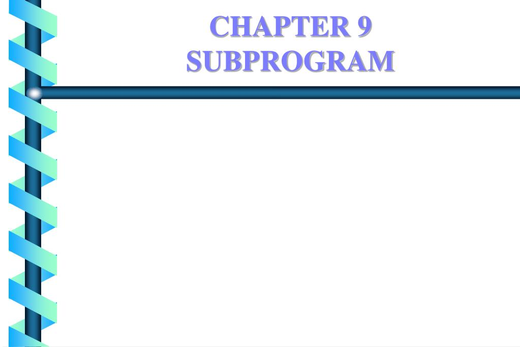 chapter 9 subprogram l.