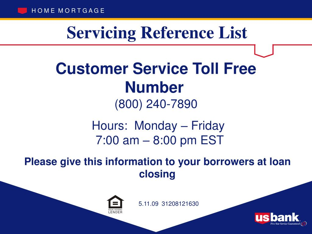 Servicing Reference List
