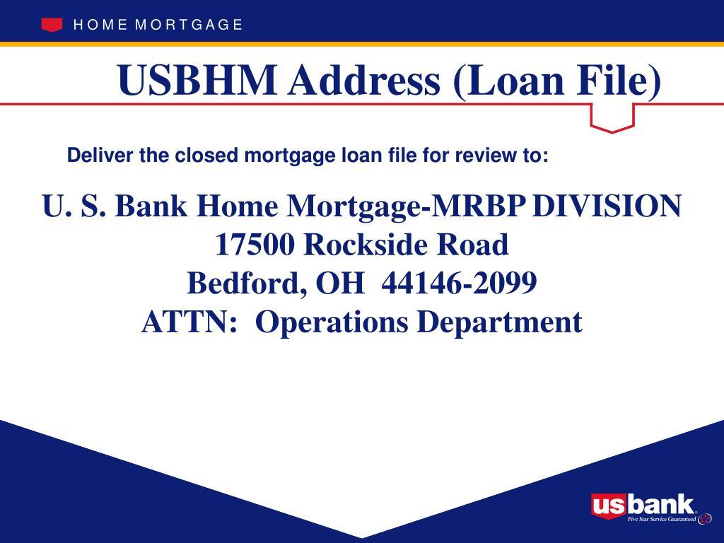 U. S. Bank Home Mortgage-MRBP DIVISION