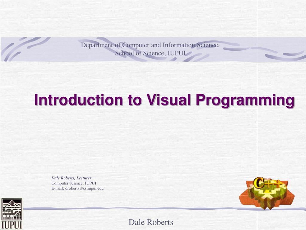 introduction to visual programming l.