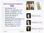 intel corporate snapshot