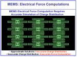 mems electrical force computations
