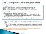 snp calling gatk unifiedgenotyper