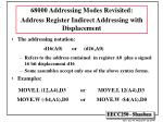 68000 addressing modes revisited address register indirect addressing with displacement