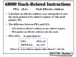 68000 stack related instructions