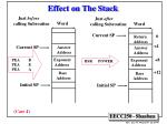 effect on the stack16