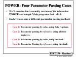 power four parameter passing cases