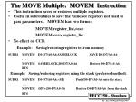 the move multiple movem instruction