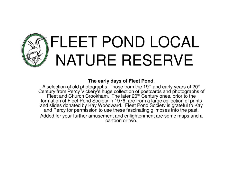 fleet pond local nature reserve l.
