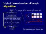 original user subroutines example algorithm