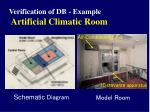 verification of db example artificial climatic room