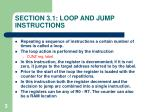 section 3 1 loop and jump instructions