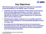 key objectives
