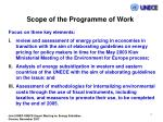 scope of the programme of work