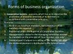 forms of business organization4