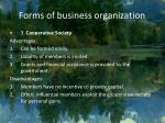 forms of business organization5