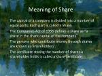 meaning of share