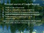 principal sources of capital reserve