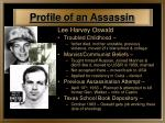 profile of an assassin
