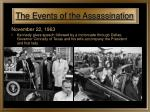 the events of the assassination