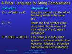 a progr language for string computations7