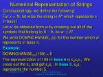numerical representation of strings
