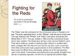 fighting for the reds
