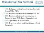 helping borrowers keep their homes